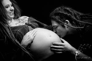 Babybauch-Fotoshooting Studio Gütersloh