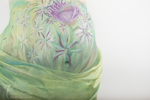 Babybauch - Fotoshooting mit Bodypainting - Gütersloh