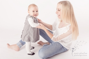 Babyshooting mit Mutter 10 Monate Gütersloh