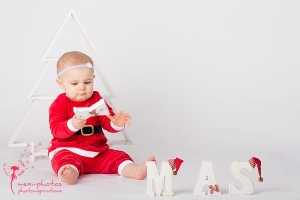 Baby-Weihnachts-Fotoshooting in Gütersloh - mexi-photos