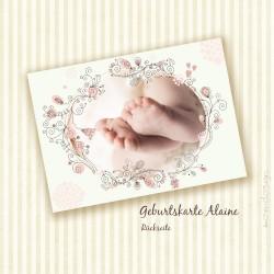 Geburtskarte - Alaine - Rückseite