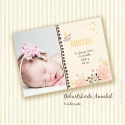 Geburtskarte - Annabel - Vorderseite