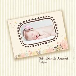 Geburtskarte - Annabel - Rückseite