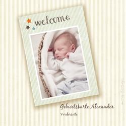 Geburtskarte - Alexander - Vorderseite